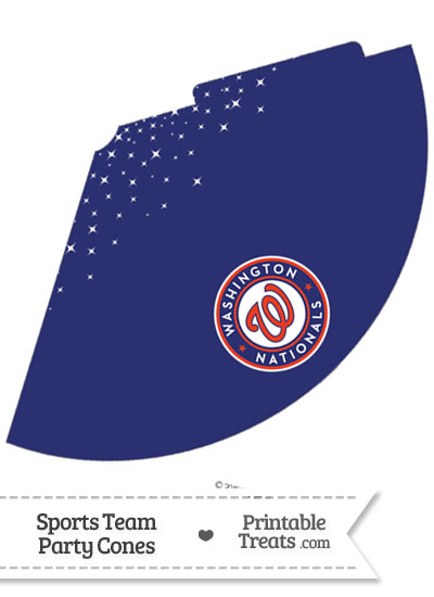 Nationals Party Cone Printable from PrintableTreats.com