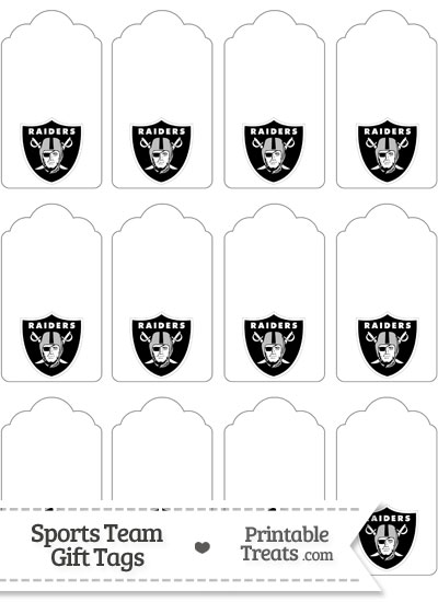 Oakland Raiders Gift Tags from PrintableTreats.com