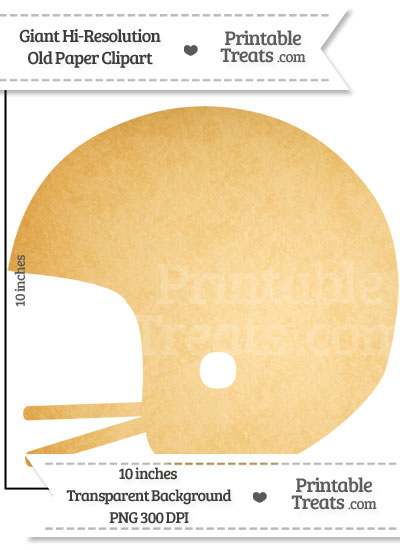 Old Paper Giant Football Helmet Clipart from PrintableTreats.com