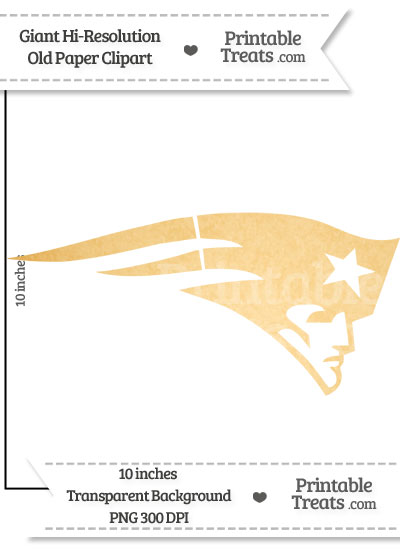 Old Paper Giant Patriots Logo Clipart from PrintableTreats.com