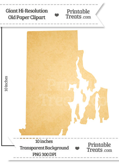 Old Paper Giant Rhode Island State Clipart from PrintableTreats.com