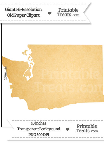 Old Paper Giant Washington State Clipart from PrintableTreats.com