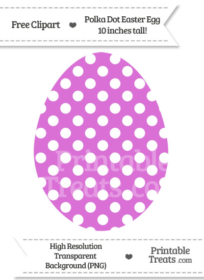 Orchid Polka Dot Easter Egg Clipart from PrintableTreats.com