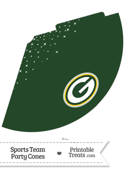 Packers Party Cone Printable from PrintableTreats.com