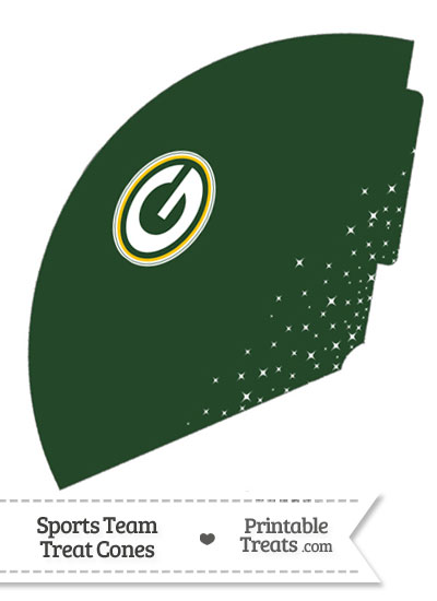 Packers Treat Cone Printable from PrintableTreats.com