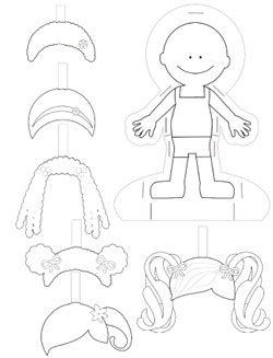 Paper doll template to print and color printable treats paper doll template maxwellsz