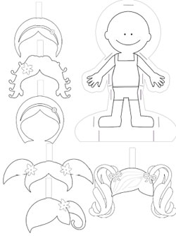 Paper Doll Template to Print and Color — Printable Treats.com