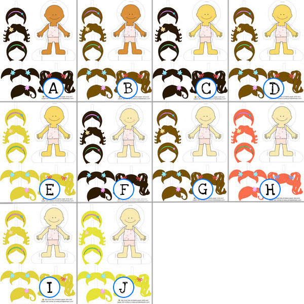 Girl Paper Dolls To Print And Play  Printable TreatsCom