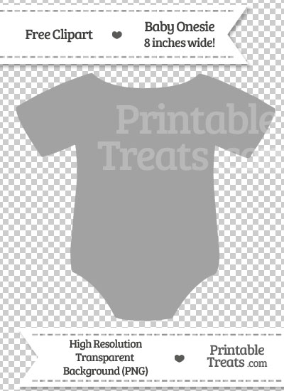 Pastel Grey Baby Onesie Clipart Printable Treats Com