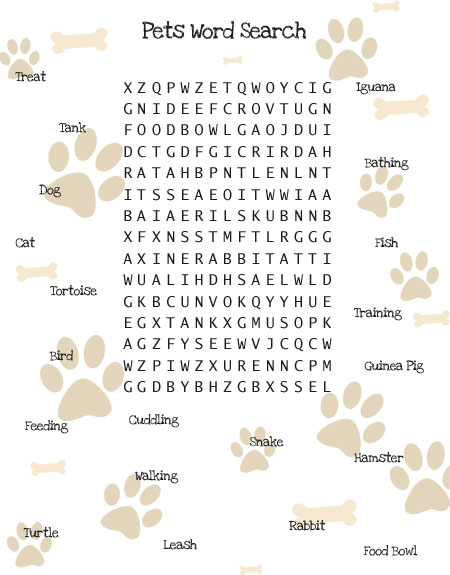 Pets Printable Activities images
