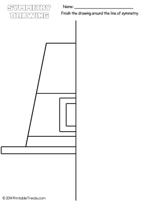 pilgrim hat symmetry drawing worksheet