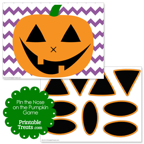 Pin The Nose on The Pumpkin Printable images