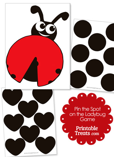 Pin the Spot on the Ladybug Game from PrintableTreats.com