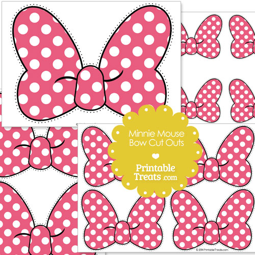 Minnie Mouse Pink Bow Template Pink Minnie Mouse Bow Cut Outs