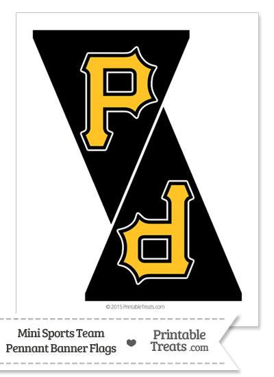 pittsburgh pirates mini pennant banner flags from printabletreatscom - Pittsburgh Pirates Coloring Pages