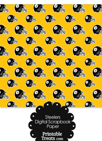 Pittsburgh Steelers Football Helmet Digital Paper — Printable ...