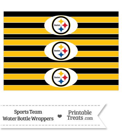 Pittsburgh Steelers Water Bottle Wrappers — Printable ...