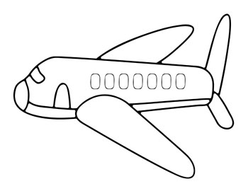 Printable airplane coloring pages for kids printable for Airplane coloring page printable