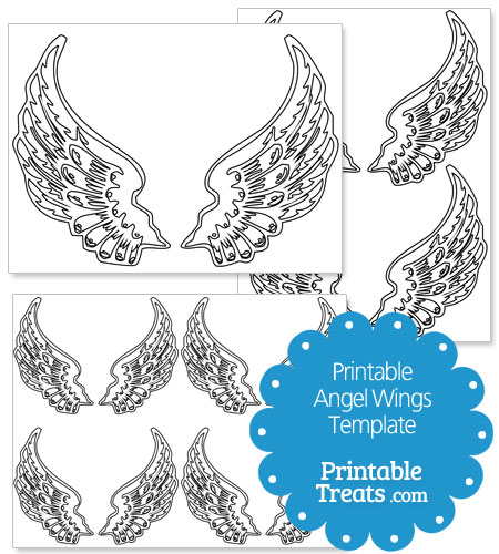 photograph relating to Angel Wing Stencil Printable identified as Printable Angel Wings Template Printable