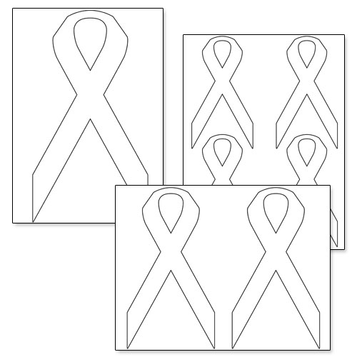 printable awareness ribbon template  u2014 printable treats com