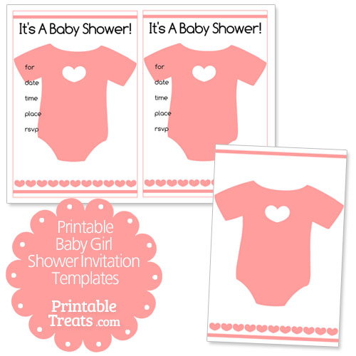 free printable baby girl shower invitation templates printable