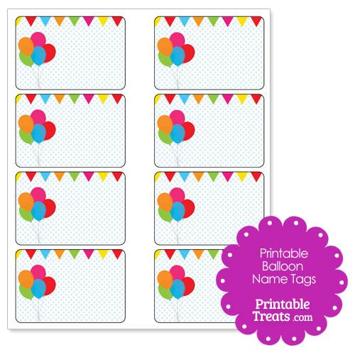 printable balloon name tags printable treats com