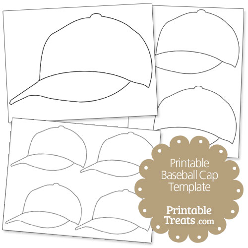 Printable Baseball Cap Template — Printable Treats.com