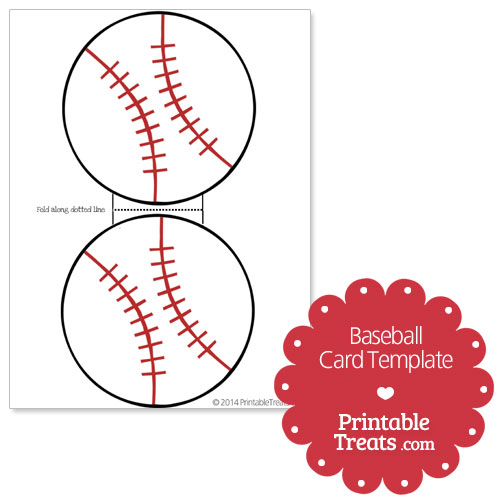 Printable Baseball Card Template — Printable Treats.com