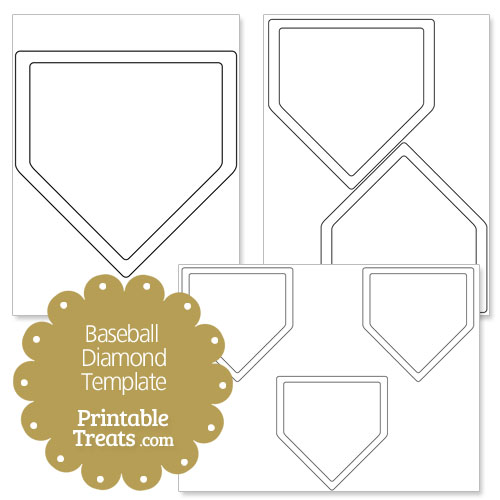 printable baseball diamond shape template printable treats com