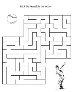 photograph regarding Printable Mazes Medium referred to as Printable Baseball Maze Match toward Print Printable