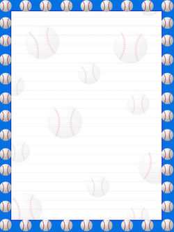 Printable Baseball Stationery — Printable Treats.com