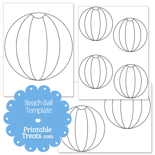 Printable Beach Ball Shape