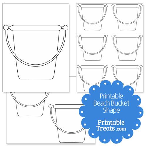 Printable Beach Bucket Shape Template — Printable Treats.com
