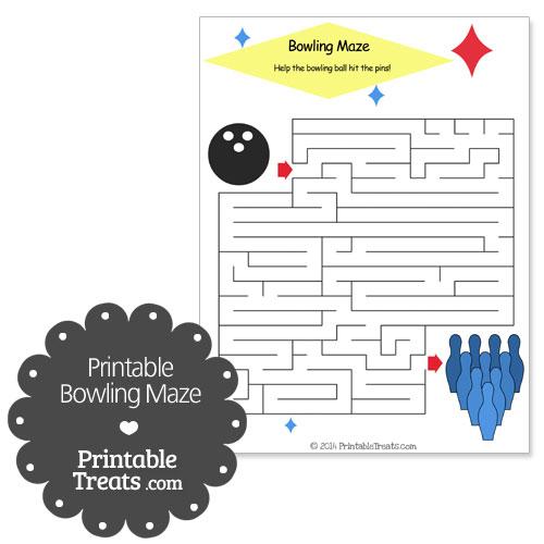 printable bowling maze