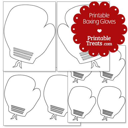 printable boxing gloves printable. Black Bedroom Furniture Sets. Home Design Ideas