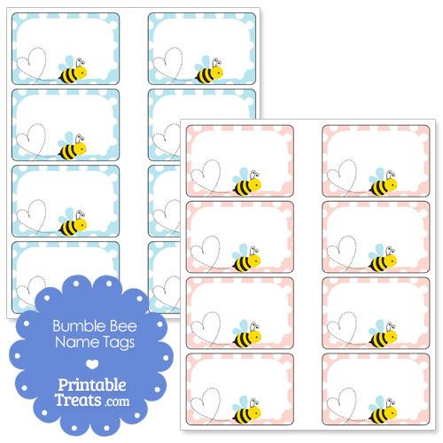 Pics Photos - Paper Bumblebee Name Tags