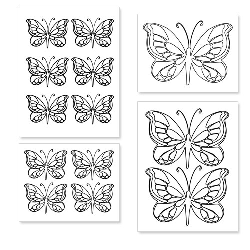 Printable Butterfly Shapes Printable Treats Com