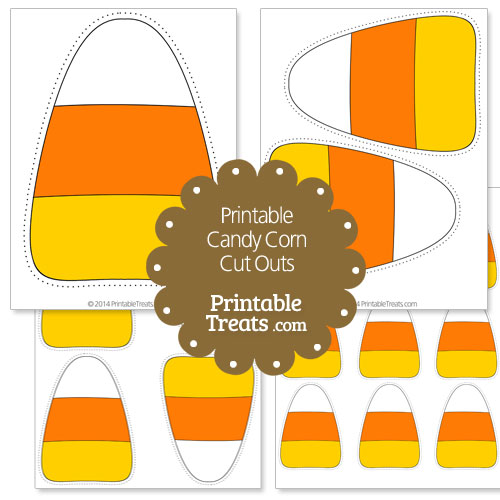 graphic regarding Candy Corn Printable titled Printable Sweet Corn Minimize Outs Printable