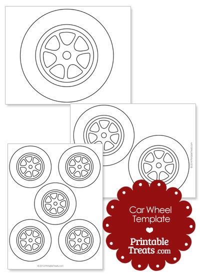 Nice Printable Car Wheel Template From PrintableTreats.com Inside Printable Car Template
