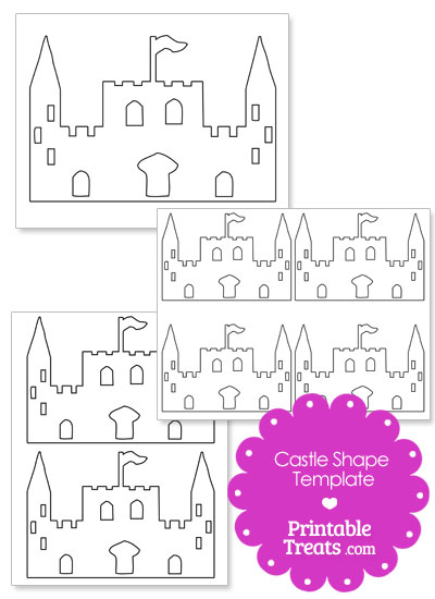 Printable castle shape template printable treats printable castle shape template from printabletreats pronofoot35fo Images