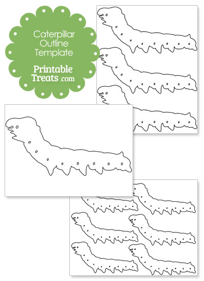 printable caterpillar outline template printable treats com