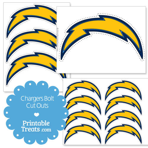 San Diego Chargers Bolt Logo: Printable Chargers Logo Cut Outs