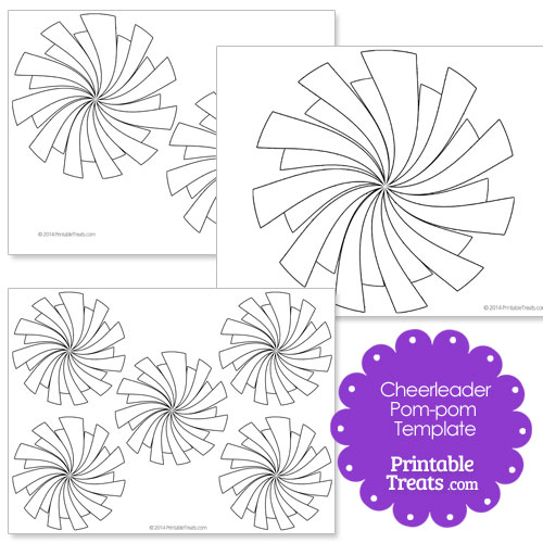 picture relating to Printable Megaphone Template titled Printable Cheerleader Pom Pom Template Printable