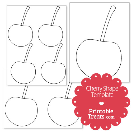 Printable Cherry Shape Template — Printable Treats.com