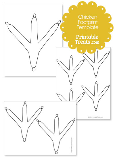 printable chicken footprint template printable treats com