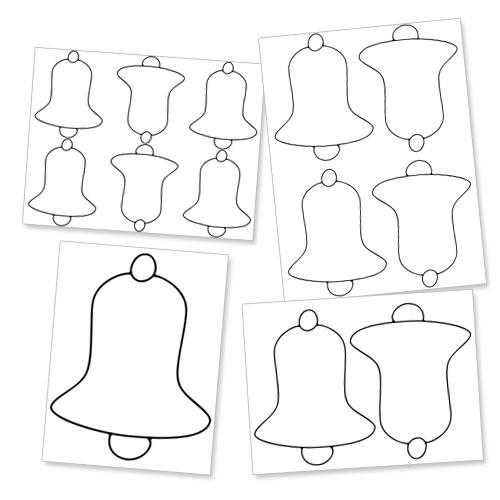 Printable christmas bell templates — treats