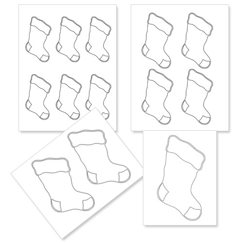 Christmas Stocking Template Printable Printable Christmas Stockings