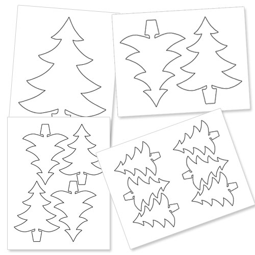 printable christmas tree outline