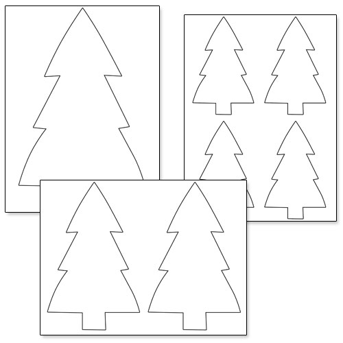 picture about Christmas Tree Cutouts Printable identified as Printable Xmas Tree Stencil Printable