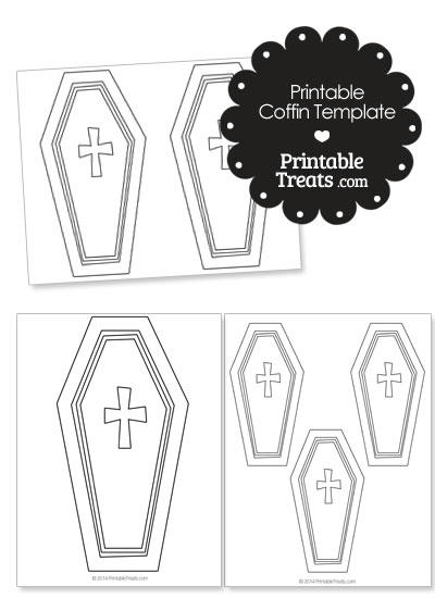 Printable Coffin Template From PrintableTreats